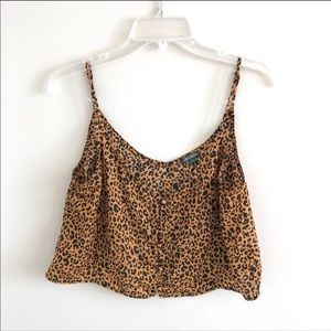 NWOT Wild Fable Cropped Cheetah Top M